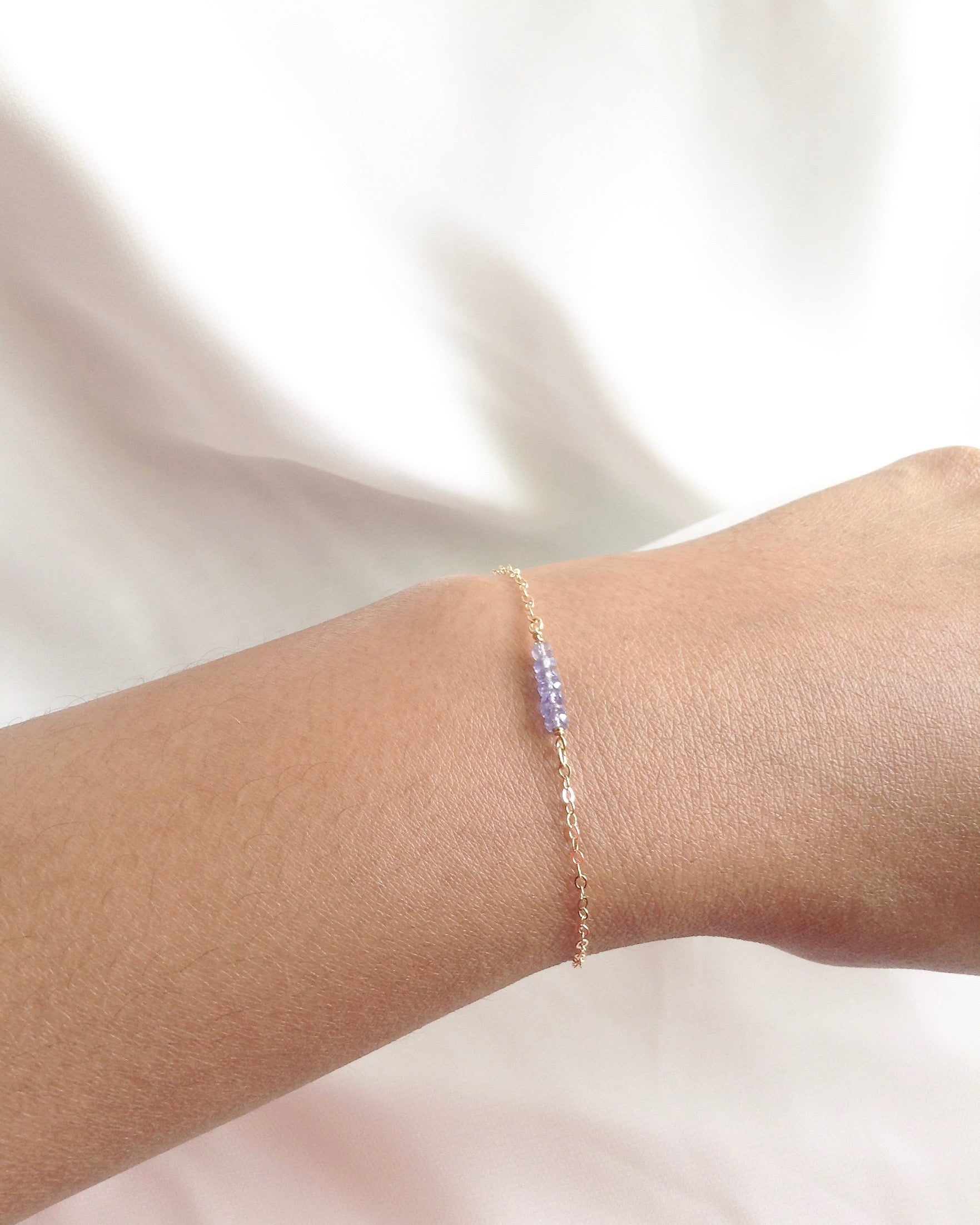 Genuine Tanzanite Bracelet | Minimalist Gemstone Jewelry | IB Jewelry