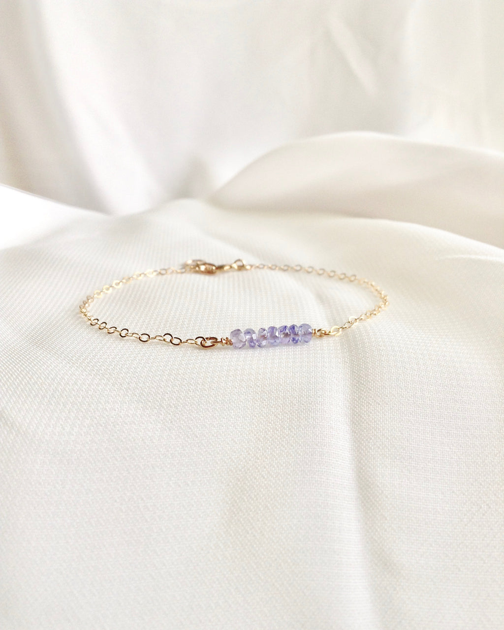 Tanzanite Bracelet in Gold Filled or Sterling Silver | IB Jewelry