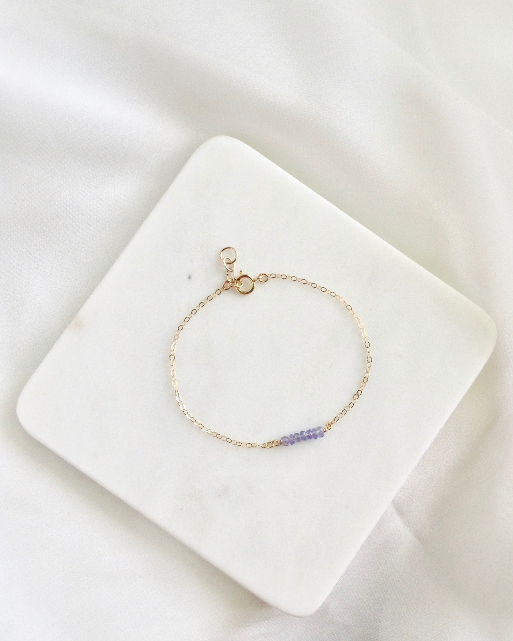 Tanzanite December Birthstone Bracelet | IB Jewelry