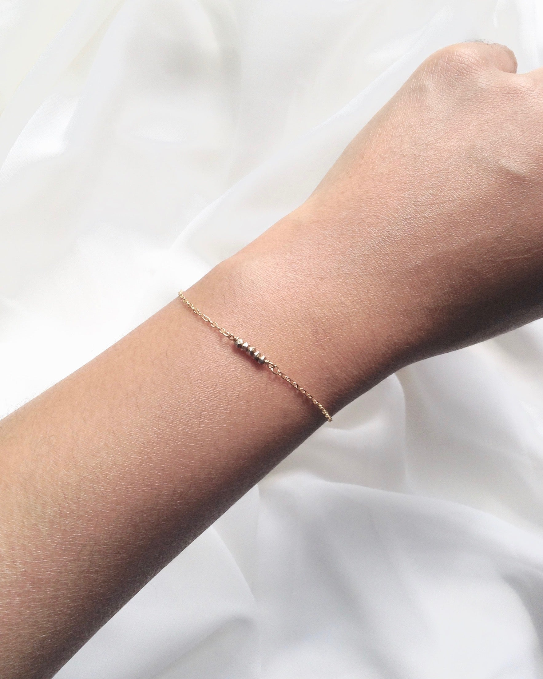 Tiny Nugget Bracelet | Dainty Everyday Chain Bracelet | IB Jewelry