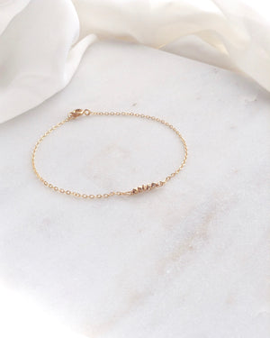 Tiny Nugget Thin Chain Bracelet | Dainty Chain Bracelet | Simple Delicate Bracelet | IB Jewelry