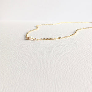 Godmother Gift Tiny Single Pearl Necklace | Meaningful Necklace | IB Jewelry