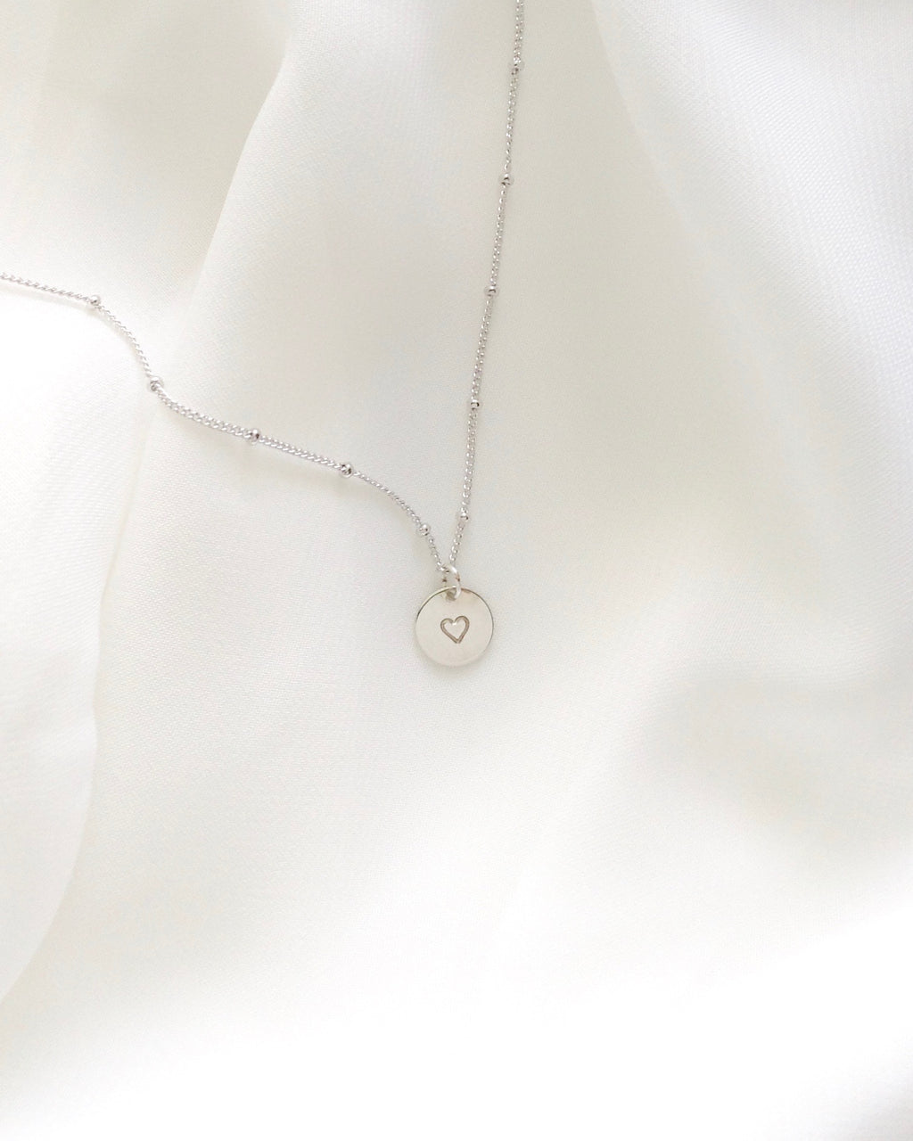 Tiny Heart Necklace in Gold Filled or Sterling Silver | IB Jewelry