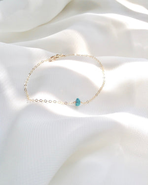 Tiny Turquoise Bracelet | Delicate Turquoise Bracelet In Gold Filled or Sterling Silver | IB Jewelry