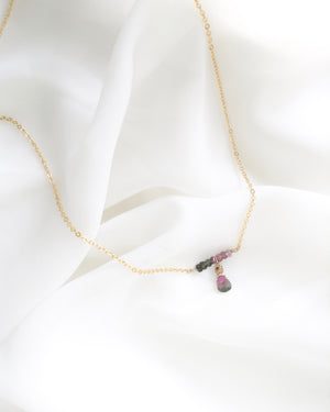 Genuine Tourmaline Necklace in Gold Filled or Sterling Silver | Dainty Gemstone Necklace | IB Jewelry