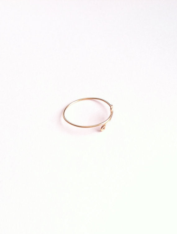 Minimalist Thin Band Adjustable Thumb Ring | IB Jewelry
