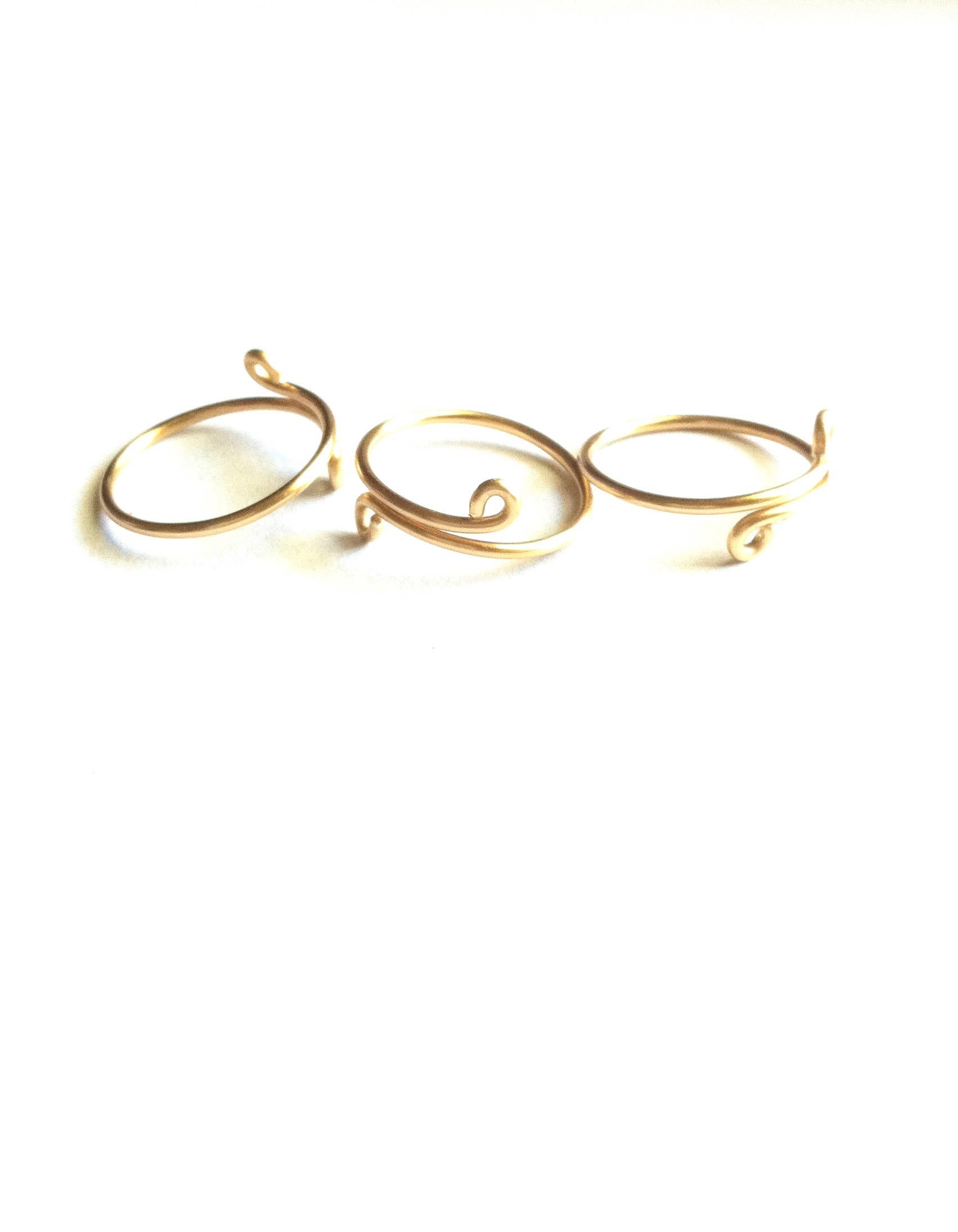 Minimalist Adjustable Midi Knuckle Ring Set of 3 Rings | IB Jewelry