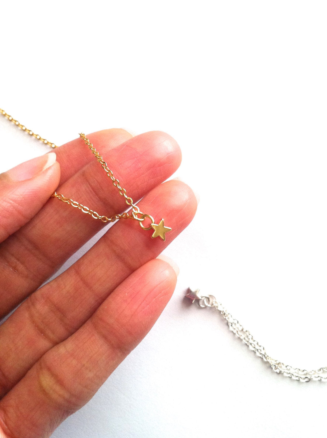 Minimalist Tiny Star Necklace | IB Jewelry