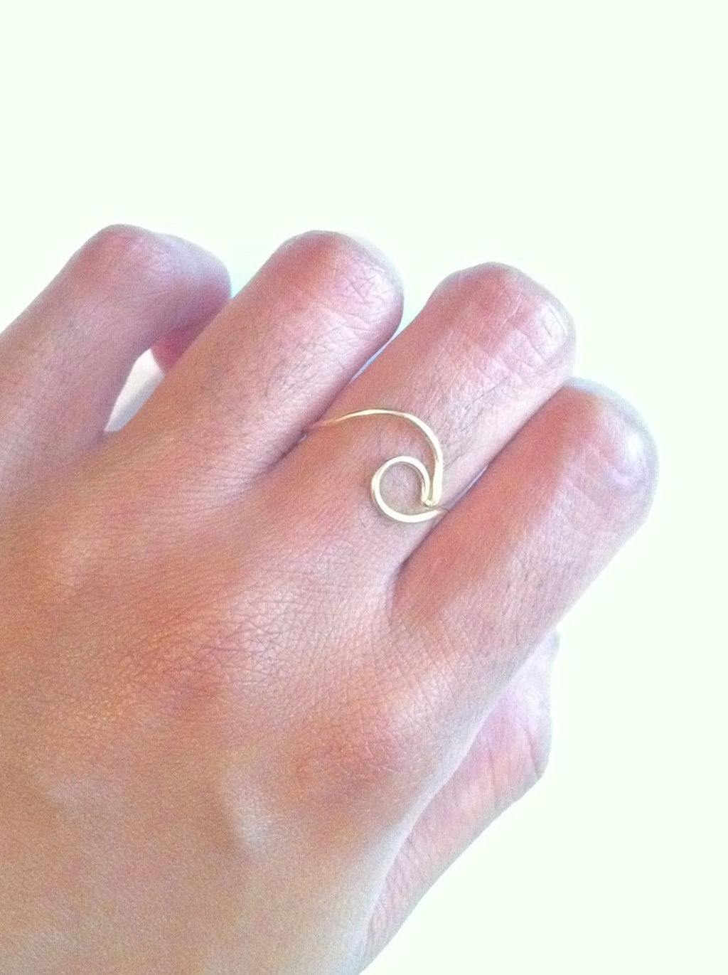 Adjustable Ocean Wave Surf Thin Band Ring | IB Jewelry