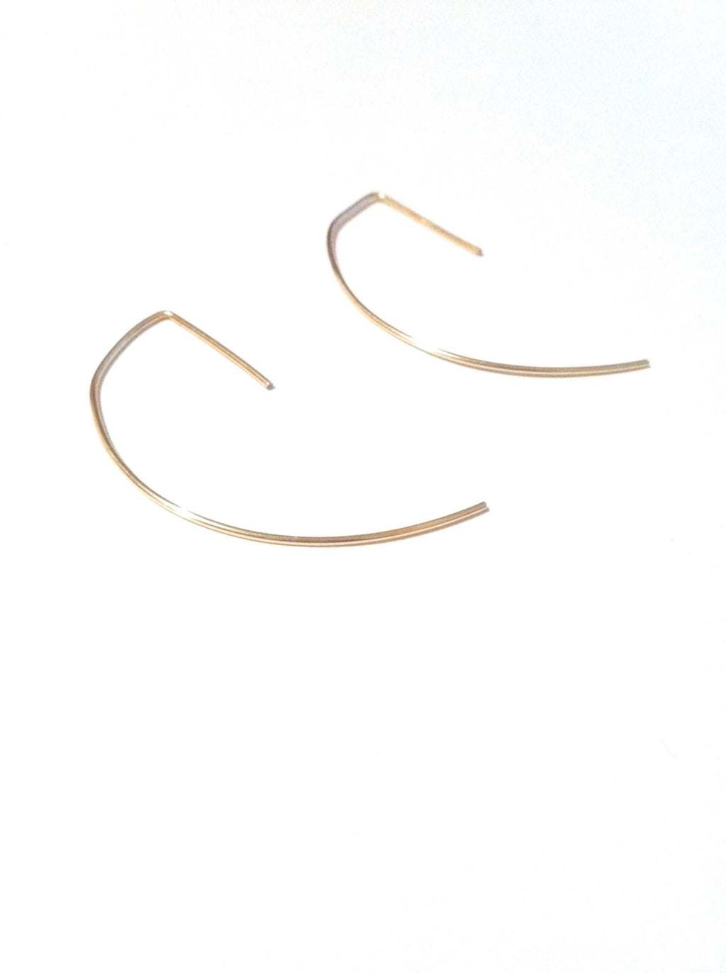 Thin Threader Hoop Earrings | IB Jewelry