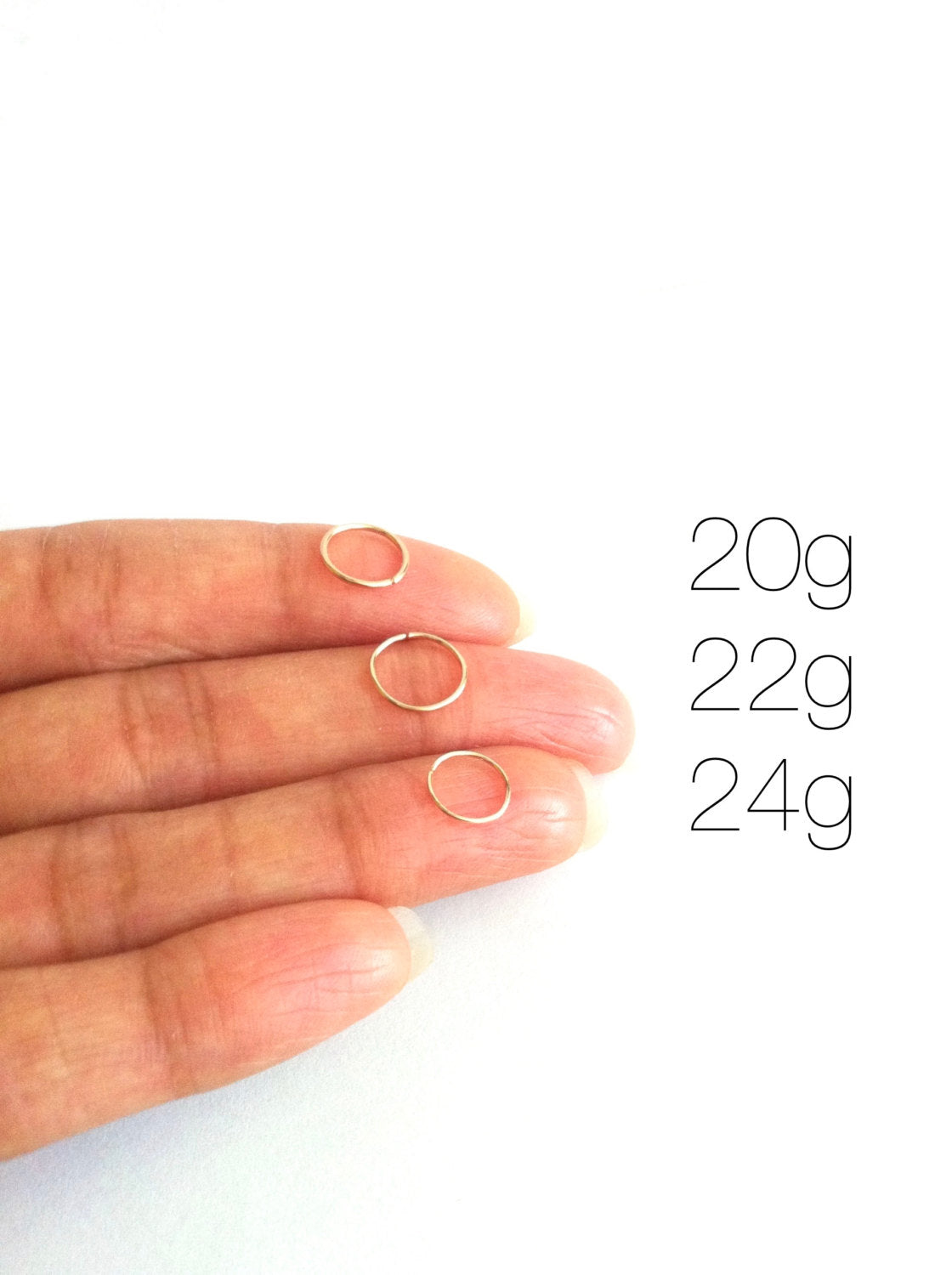 Tiny Cartilage Hoop | 4mm 5mm 6mm or 7mm Endless Hoop | IB Jewelry