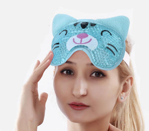 Gel Hot or Cold Animal Travel Eye Mask