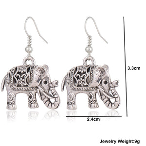 Vintage Tibetan Style Elephant Earrings