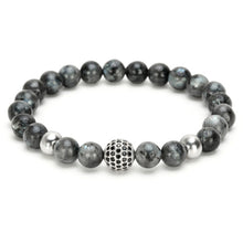 "The ""Dark Smoke"" Marble Beads Charm Bracelet"