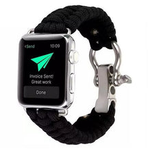 Paracord Survival Watch Band Compatible with Apple Watch Series 1, 2 and 3