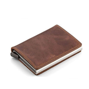 The Ultimate Genuine Leather Minimalist RFID Blocking Card Holder Wallet