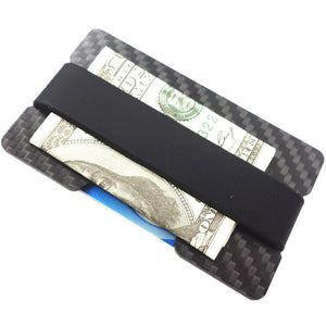The Ultra Minimalist Carbon Fiber Wallet RFID Blocking Card Holder and Money Clip