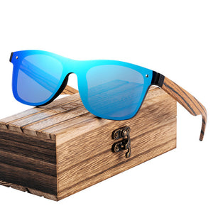 The Frontier AQUA BLUE Real Wood Shades