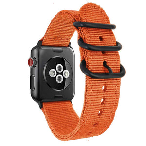 Orange NATO Nylon Watch strap For Apple Watch band 38mm 42mm