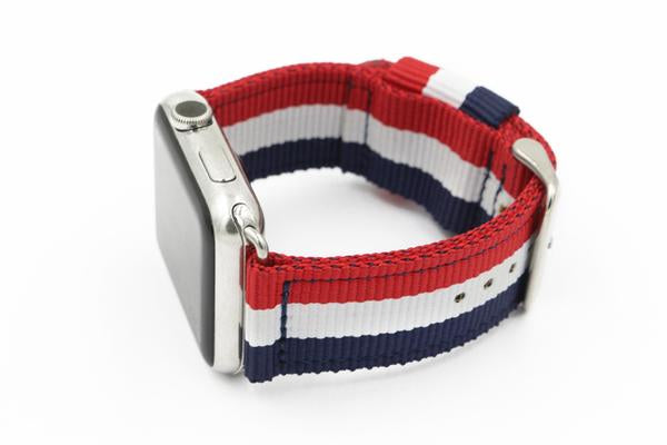Classic NATO Military Style Strap for Apple Watch Series 1, 2, 3 - 38mm & 42mm