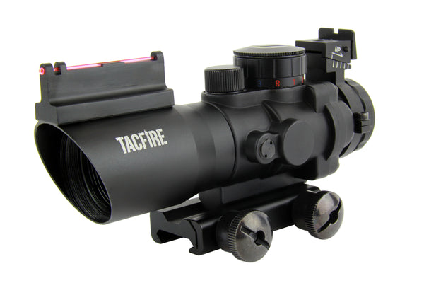 4X32 TRI-ILL. SCOPE Rapid/Chevron/Horseshoe (Black/Tan)