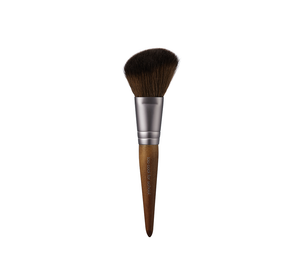 A cruelty-free makeup artist brush kit comprised of 4 essential mini-brushes in a stylish leather pouch (also cruelty-free!)