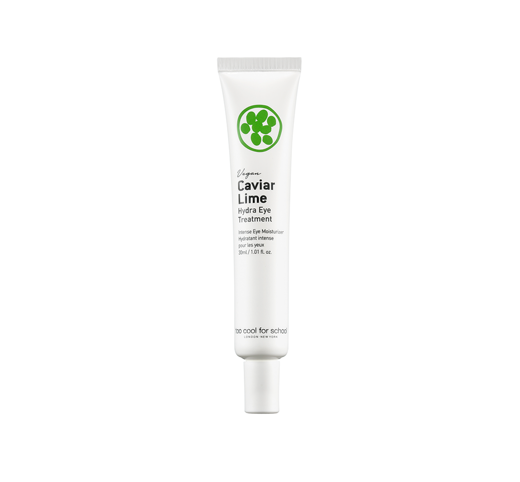 A powerfully moisturizing hypoallergenic eye treatment for Dryness+Wrinkles+Puffy Eyes. Contains 65% of caviar lime extracts.