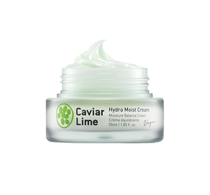 A 48-hour resistant moisturizing cream formulated with 80% of caviar lime extracts full of 9 multi-vitamins, 6-layered hyaluronic acid, and all EWG green ingredients.
