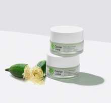 Load image into Gallery viewer, A 48-hour resistant moisturizing cream formulated with 80% of caviar lime extracts full of 9 multi-vitamins, 6-layered hyaluronic acid, and all EWG green ingredients.