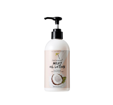 Coconut Milky Oil Lotion is a featherlight body lotion that provides a refreshing and lightweight splash of hydration with coconut oil, water, and milk proteins.
