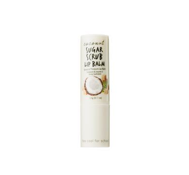A leave-on scrub lip balm formulated with natural coconut sugar, coconut water, and coconut oil. You don't need to wipe it out, but it will melt on your lips and give you ultimate and dramatically hydrating lip care.