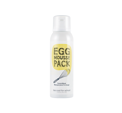 Egg Mousse Pack is a 5-minute wash-off mask for radiant, smooth, and moisturized skin.