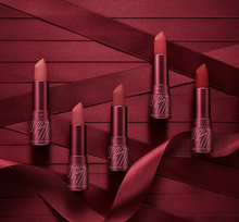 Load image into Gallery viewer, Glam Rock Misty Rose is a soft-matte lipstick in variation of 'crushed-rose' shades.
