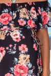 Black Floral Ruffled Top New Arrivals, Tops, On Sale Hello Miz/ CMT1699B - Black $11.25