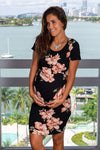Black and Taupe Floral Short Dress New Arrivals, Dresses, Short Dresses Hello Miz/ CMD14970 - Black/Taupe $12.75