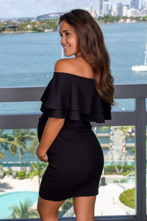Black Off Shoulder Short Dress New Arrivals, Dresses, Short Dresses Hello Miz/ CMD1728S - Black $12.75