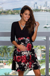 Black and Red Floral Short Dress New Arrivals, Dresses, Short Dresses Hello Miz/ CMD1419K - Black $14.75
