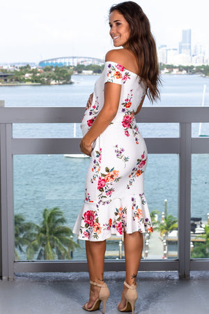 White Floral Midi Dress New Arrivals, Dresses, Short Dresses Hello Miz/ CMD1905D - White $10.75