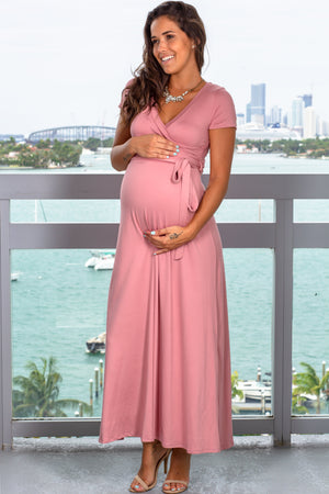 Mauve Maxi Dress New Arrivals, Dresses, Maxi Dresses Hello Miz/ CMD1858S - Mauve $14.25