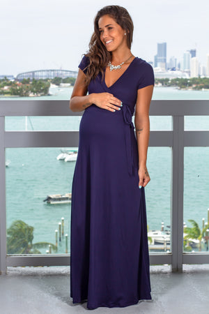 Navy Maxi Dress New Arrivals, Dresses, Maxi Dresses Hello Miz/ CMD1858S - Navy $14.25