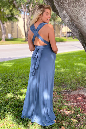 Teal Tie Maxi Dress with Open Back New Arrivals, Dresses, Maxi Dresses Wishlist/ DK3118E- Teal $23.95