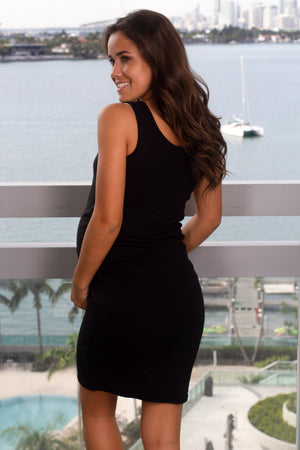 Black Short Dress with Ruched Sides New Arrivals, Dresses, Short Dresses Ellie Flora/ MDS004 - Black $7.75