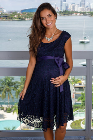 Navy Lace Short Dress New Arrivals, Dresses, Short Dresses Hello Miz/ CMD1064 - Navy $16.75