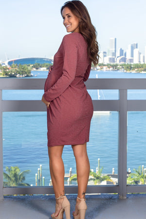 Mauve Shimmer Midi Dress New Arrivals, Dresses, Short Dresses Hello Miz/ CMD1986 - Mauve $13.75