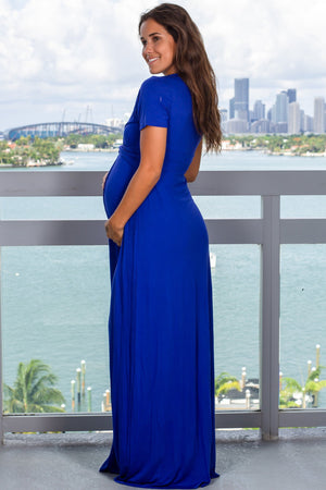Royal Blue Maxi Dress with Twist Front New Arrivals, Dresses, Maxi Dresses Beeson River/ D3377HS - Royal Blue $14.50