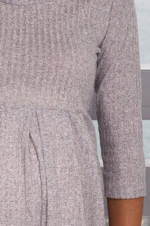 Gray Knit Short Dress New Arrivals, Dresses, Short Dresses, On Sale Jmode/ D494-MT - Gray $14