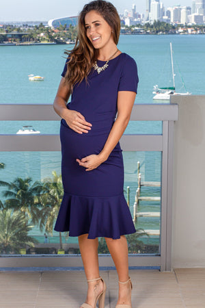 Navy Midi Dress New Arrivals, Dresses, Short Dresses My Bump/ MD0047SD - NAvy $13.25