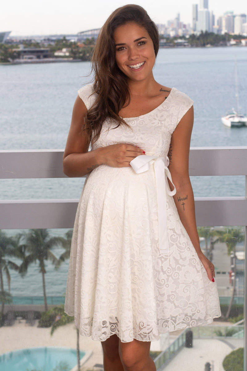 White Lace Short Dress New Arrivals, Dresses, Short Dresses Hello Miz/ CMD1064 - White $16.75