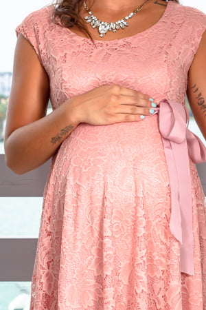 Mauve Lace Short Dress New Arrivals, Dresses, Short Dresses Hello Miz/ CMD1064 - Mauve $16.75