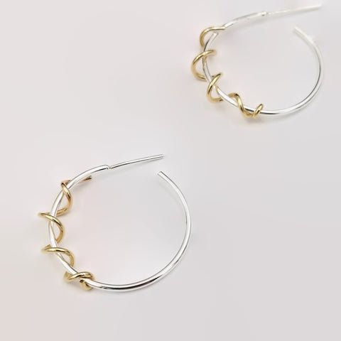 Two Tone Hoops-Small